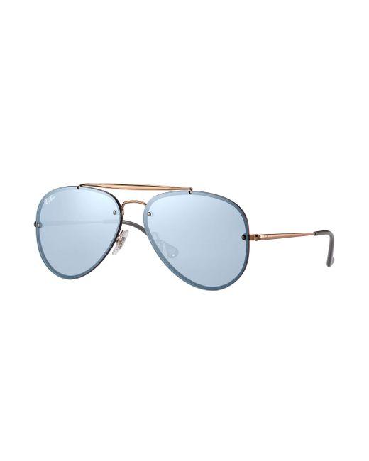 8426411672c Ray-Ban - Blue Blaze Aviator Bronze-copper - Lyst ...