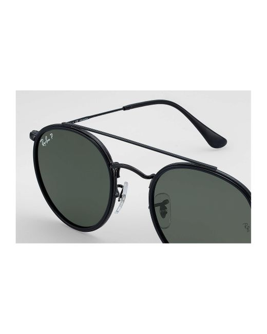 a851b2a0ccc ... Ray-Ban - Green Round Double Bridge for Men - Lyst