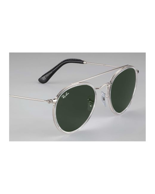 5aadf8218af ... Ray-Ban - Green Round Double Bridge  collection for Men - Lyst ...