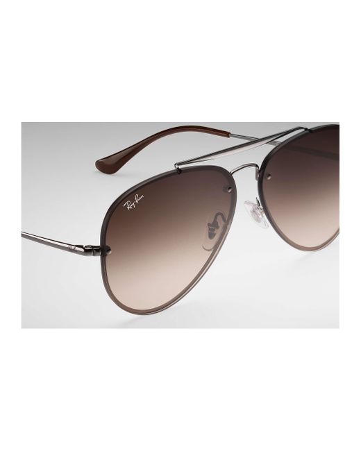 4ef577f4e1b ... Ray-Ban - Brown Blaze Aviator for Men - Lyst ...