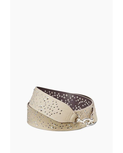 Rebecca Minkoff - Natural Studded Guitar Strap - Lyst