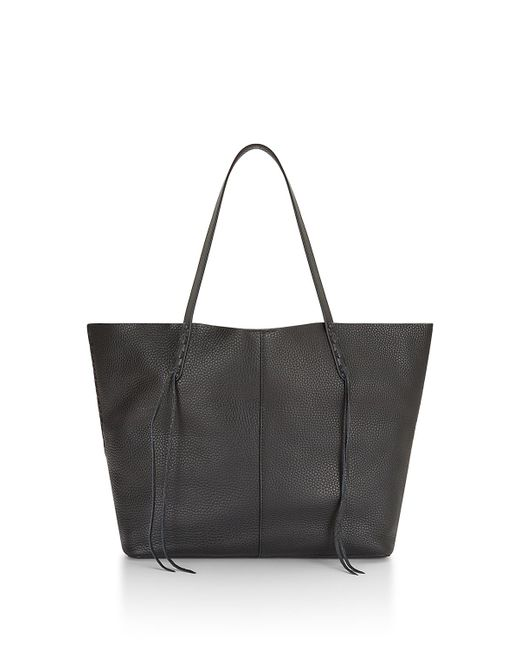Rebecca Minkoff   Black Medium Unlined Tote With Whipstitch   Lyst
