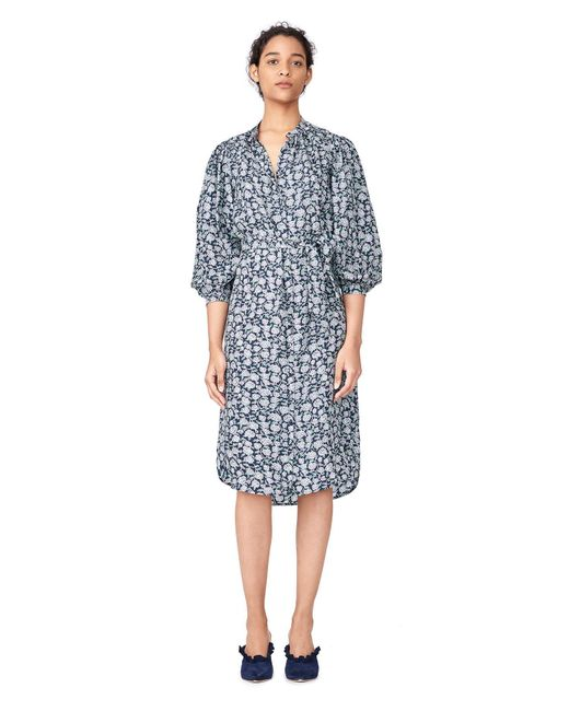 Rebecca Taylor | Black Capucine Floral Hammered Silk Shirtdress | Lyst