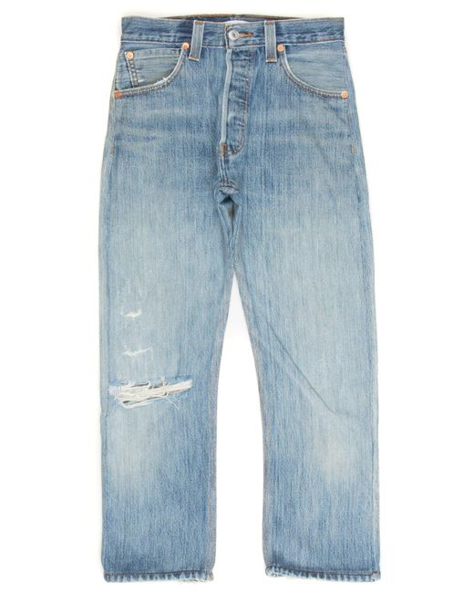 Re/done - Blue High Rise Crop for Men - Lyst
