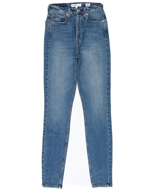 Re/done | Blue Originals Ultra High Rise Skinny | Lyst