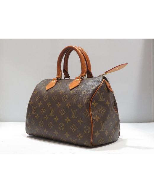 ... Louis Vuitton - Brown Speedy 25 Boston Hand Bag Monogram Canvas M41528  - Lyst ... 3d3749048e