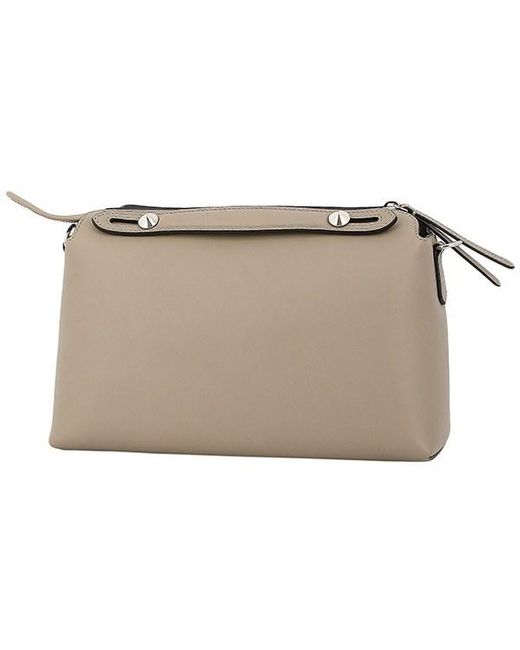 5064b0a6039a ... Fendi - Natural By The Way Small Leather Graige Shoulder Bag Handbag -  Lyst ...