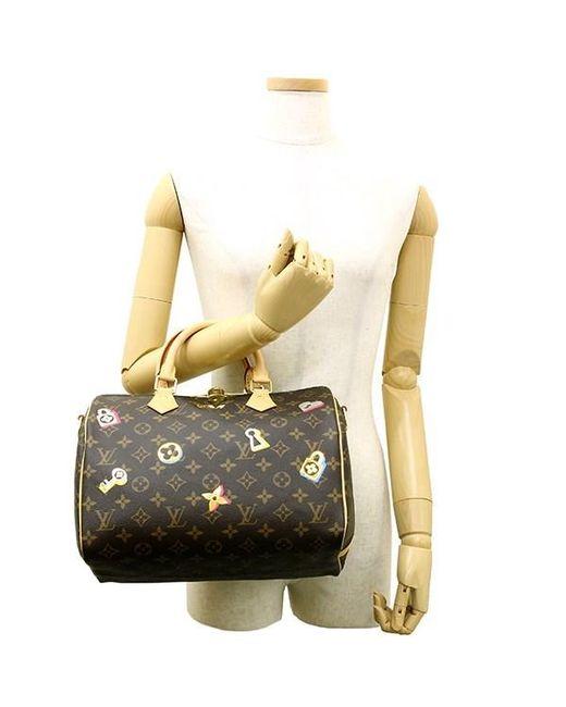5580acad27a4 ... Louis Vuitton - Brown Speedy Bandouliere 30 Monogram Love Lock Handbag  Shoulder Bag  new  ...