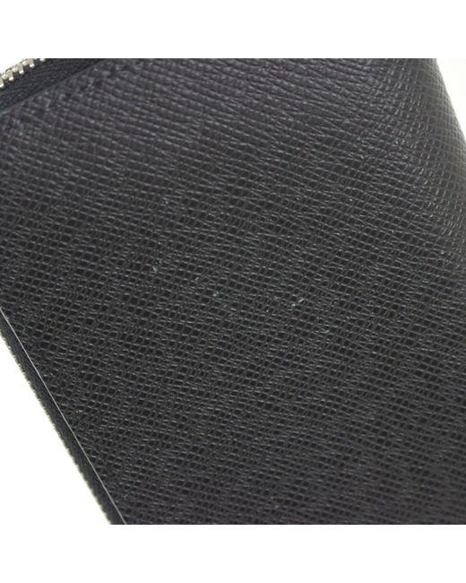 0192da83 Men's Gray Auth Zippy Wallet Vertical Around Purse M30503 Taiga Ardoise