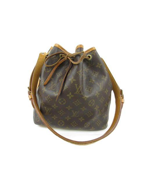 Louis Vuitton - Brown Petit Noe Drawstring Shoulder Bag Monogram Canvas M42226 - Lyst