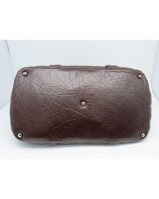 be9e4fc21a4dd7 ... Chanel - Matelasse Cc Shw Tote Bag Shopper Calfskin Leather Brown 9297  - Lyst ...