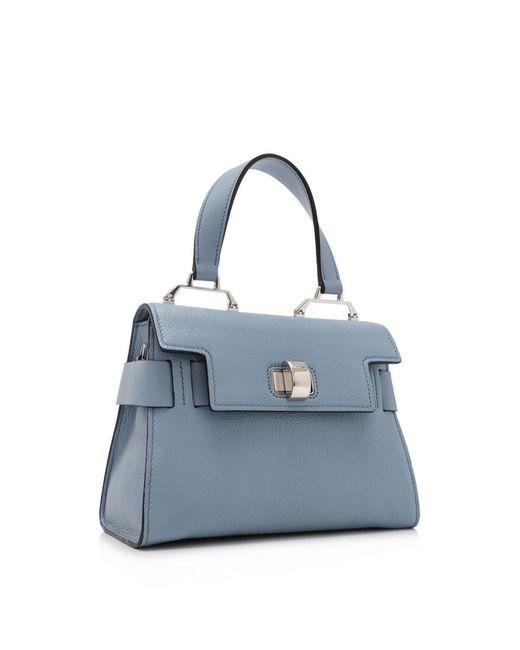4700122d0e6f ... Miu Miu - Blue Madras Top Handle Bag - Lyst ...