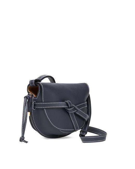 ... Loewe - Gate Small Crossbody Bag Midnight Blue - Lyst ... 9c8ca64199