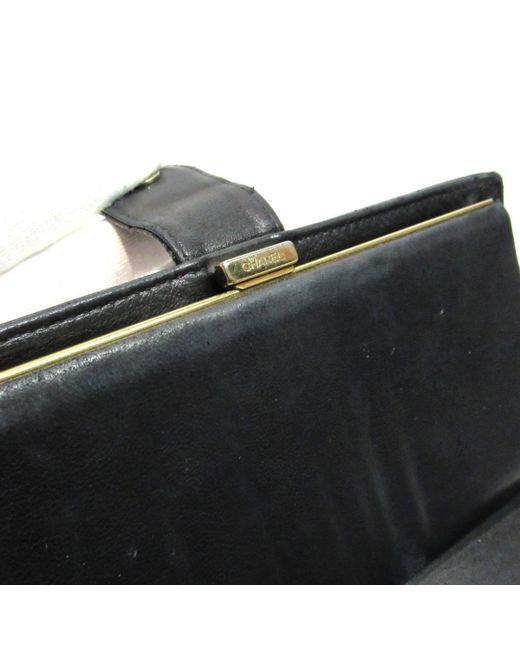 7ef16ffe1fdb ... Chanel - Authentic Cc Bi-fold Long Wallet Purse Caviar Leather Black  Used Vintage ...