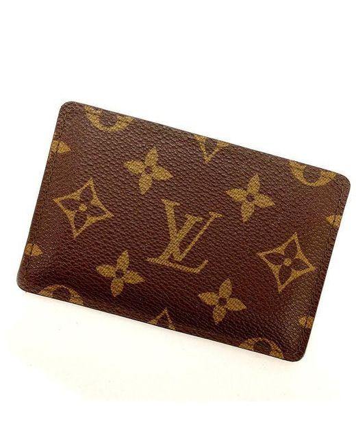 Lyst louis vuitton business card holder monogram unisexused y744 louis vuitton brown business card holder monogram unisexused y744 lyst colourmoves