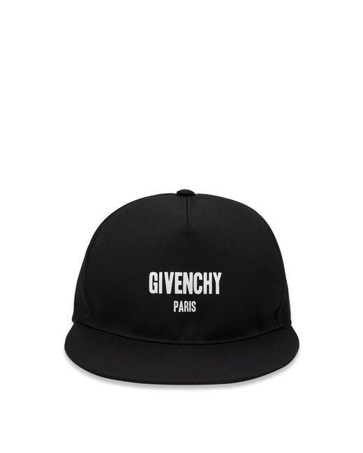 Givenchy - Black Logo Flat-bill Cap for Men - Lyst