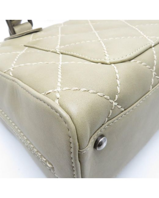 c06a19650bd0cc ... Chanel - Brown Matelasse Cc Tote Bag Shopper Calfskin Leather Khaki  7106 - Lyst ...