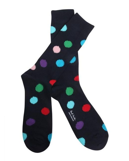 Paul Smith - Blue Polka Dots Printed Socks for Men - Lyst