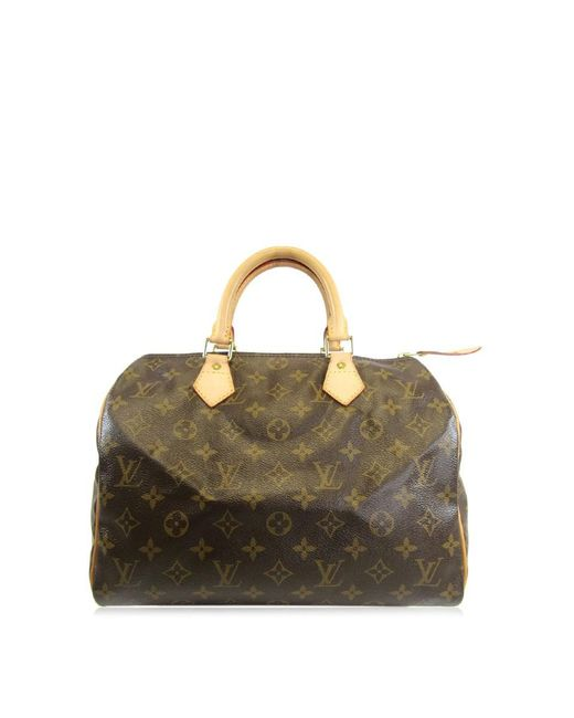 Lyst - Louis Vuitton Monogram Speedy 30 Boston Hand Bag M41526 in Brown 91d19f88beba6