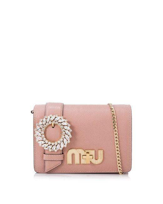Miu Miu - Pink Madras My Miu Bag - Lyst