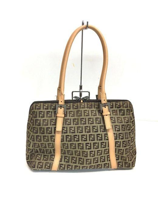 4dc39b041bc ... detailing 6924e ea1c0 ... fendi zucca hand bag shoulder bag brown beige  canvas lyst ...