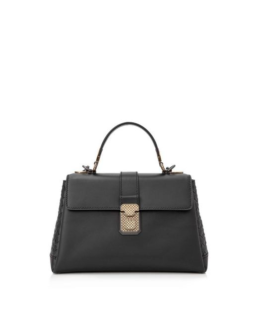 Bottega Veneta - Black Small Piazza Bag - Lyst
