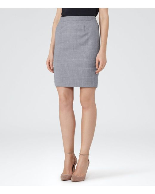 Reiss   Blue Nicola Skirt   Lyst