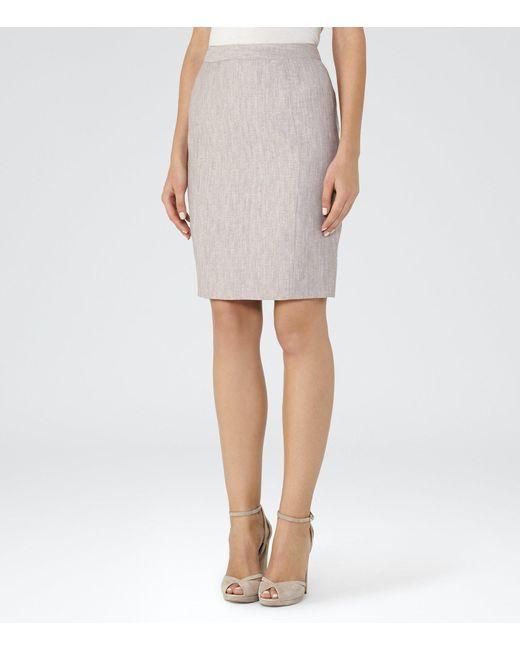 Reiss | Gray Virginia Skirt | Lyst