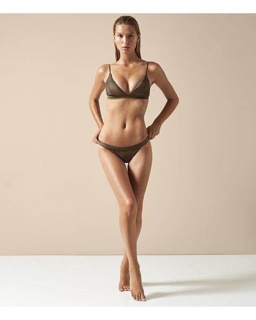 Reiss - Natural Raquel - Pleat Detail Bikini Briefs - Lyst