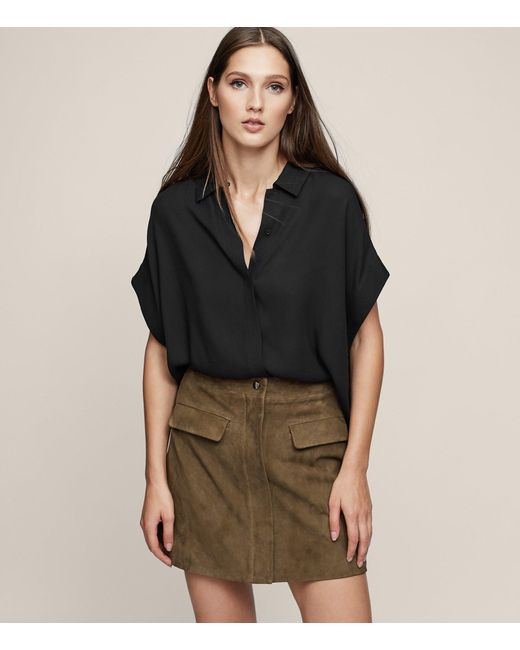 Reiss | Multicolor Marina A Line Suede Mini Skirt | Lyst