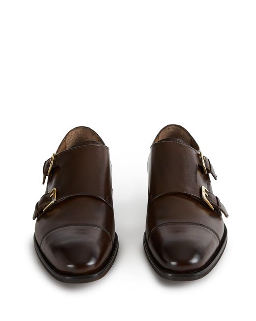9713512951b8 ... Reiss - Brown Leicester - Double Monk Strap Cap Toe Shoes for Men -  Lyst ...