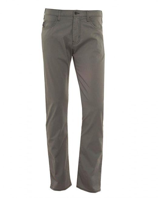 Armani Jeans - Gray J45 Jeans, Regular Tapered Grey Denim for Men - Lyst