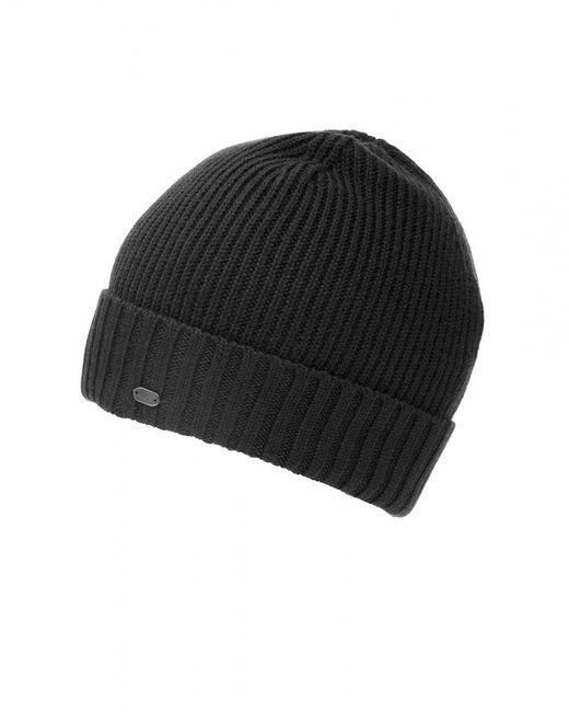 BOSS Green | C-fati2 Beanie, Ribbed Wool Black Hat for Men | Lyst