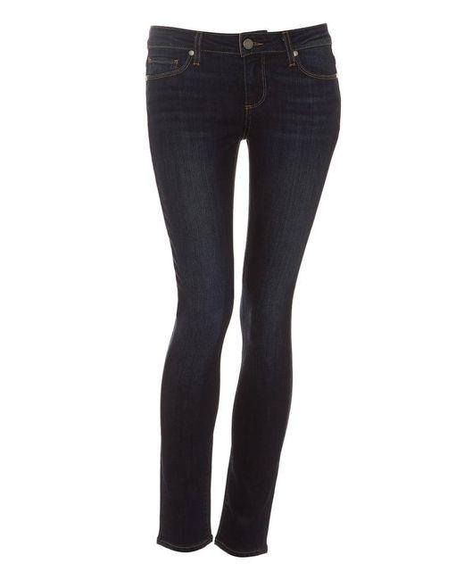 PAIGE | Blue Skyline Ankle Peg Jean, Super Rebellious Skinny Dark Denim | Lyst