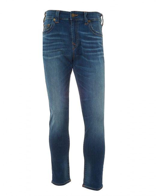 True Religion | Blue Jack Desert Highway Jeans, Slim-fit Tapered Stretch Jeans for Men | Lyst