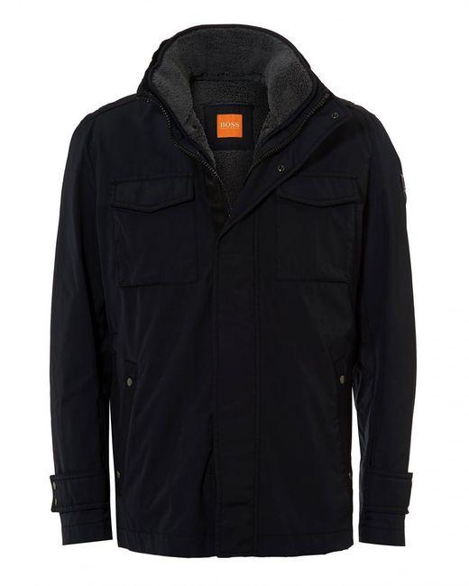 BOSS Orange | Onick Military Styled Water Repellent Black Jacket for Men | Lyst
