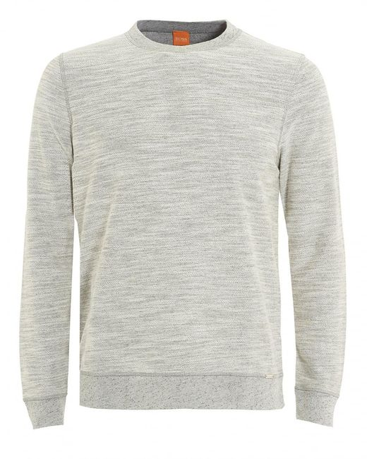 BOSS Orange | Gray Woice Jumper, Natural Grey Reversible Sweater for Men | Lyst