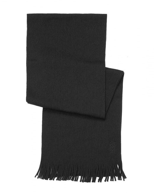 BOSS Athleisure - C-albas Ribbed Black Scarf for Men - Lyst