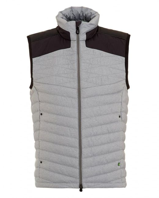 BOSS Athleisure - Gray Vaboko Gilet, Grey Two Tone Quilted Jacket for Men - Lyst