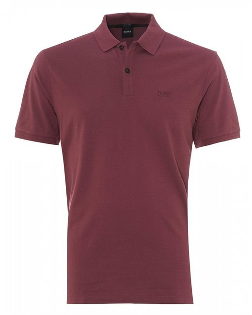 BOSS - Pink Pallas Regular Fit Polo, Open Purple Polo Shirt for Men - Lyst