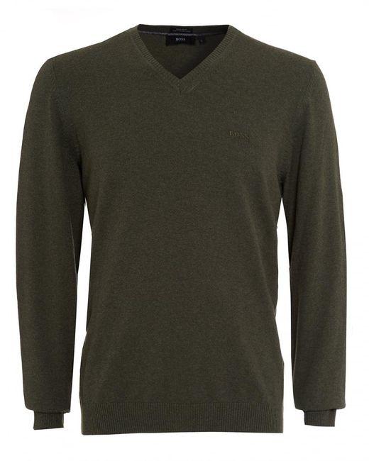 BOSS Black | Fillpp-o Jumper, Khaki Green Sweater for Men | Lyst