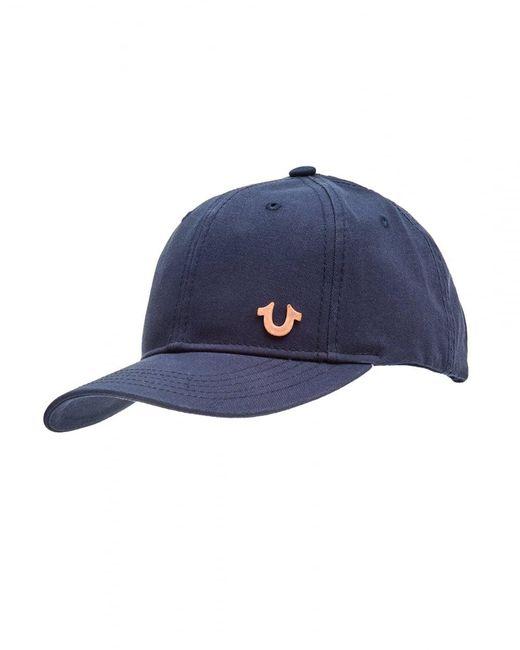 True Religion | Horseshoe Logo Cap, Navy Blue Hat for Men | Lyst