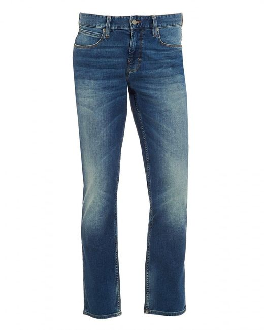 BOSS - Blue Orange63 Jean, Slim Fit Whiskered Mid Light Jeans for Men - Lyst