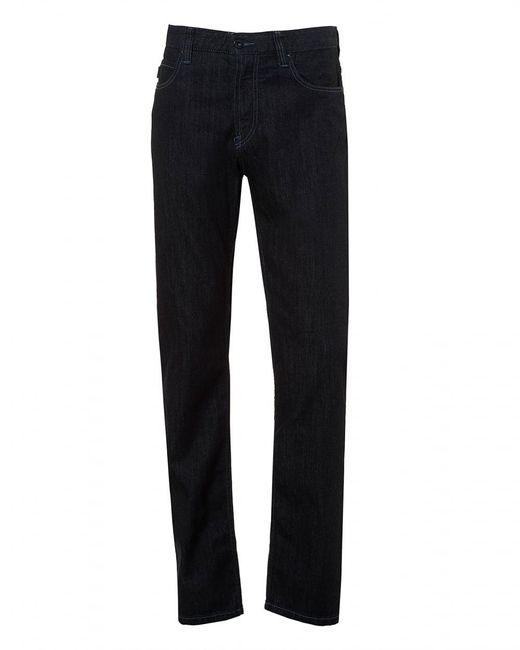 Armani | J15 Jeans, Classic Reg Fit Navy Blue Denim for Men | Lyst