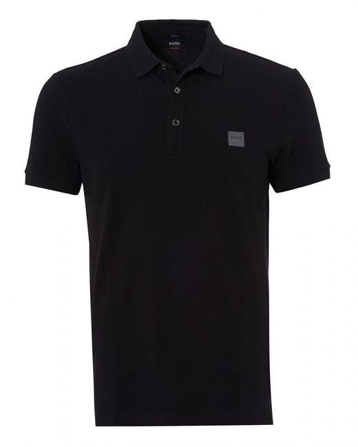 BOSS by Hugo Boss - Passenger Polo, Black Short Sleeve Polo Shirt for Men - Lyst