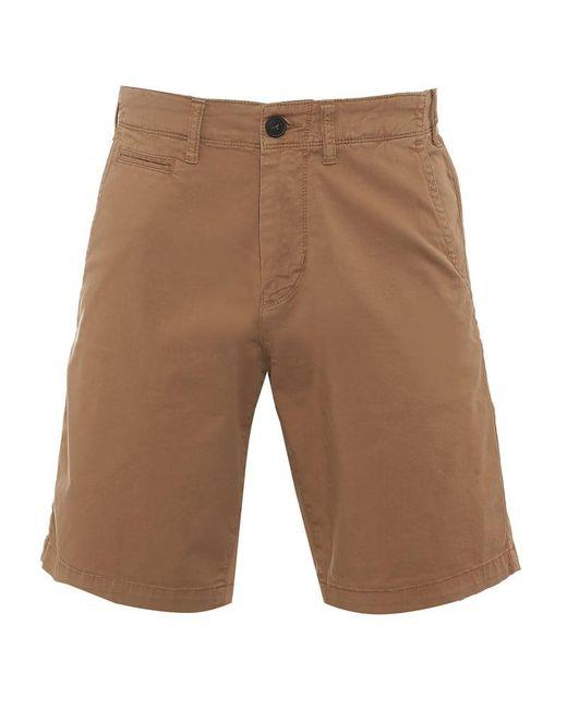Emporio Armani - Natural Chino Shorts Beige Regular Cotton Twill Short for Men - Lyst