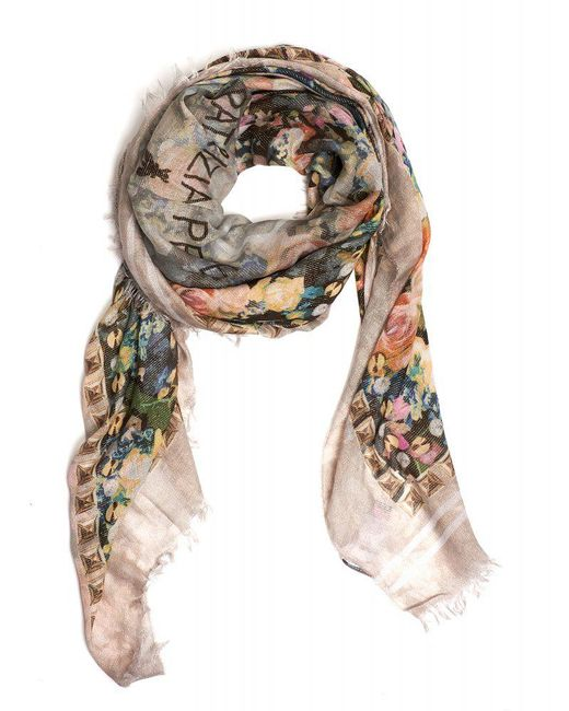 Patrizia Pepe | Pink Scarf Light All Over Rose Square Foulard Scarf | Lyst
