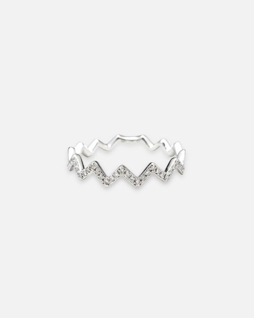 EF Collection | Metallic Zig Zag Stack Ring | Lyst
