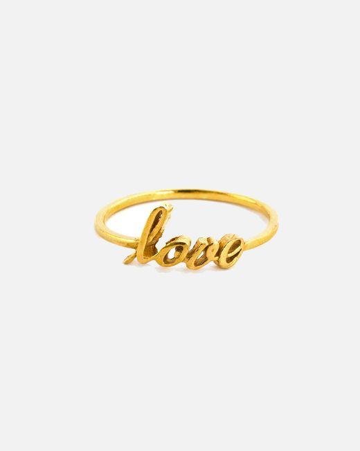 Alex Monroe - Metallic Fine Love Ring - Lyst