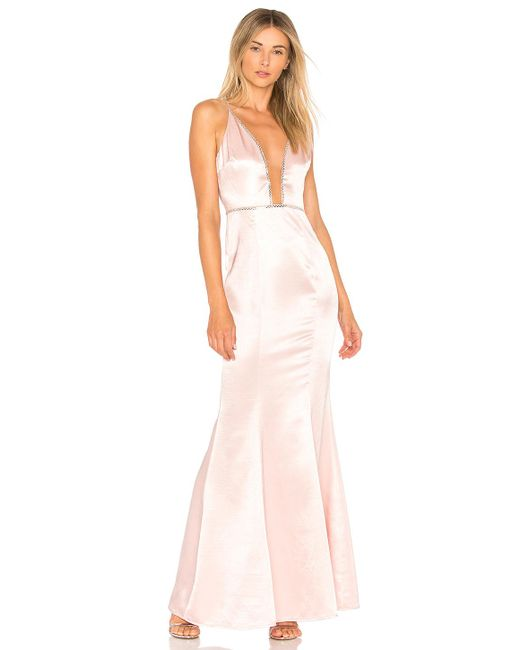 Lovers + Friends - Blair Gown In Pink - Lyst